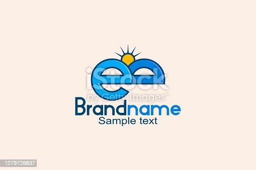 istock Letter eb sunshine logo 1279726837