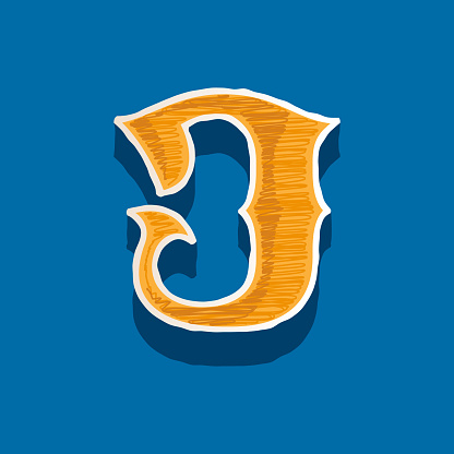 J letter embroidered logo in classic collegiate or sports style.