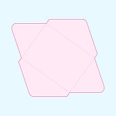 Vector illustration of a US letter envelope template.