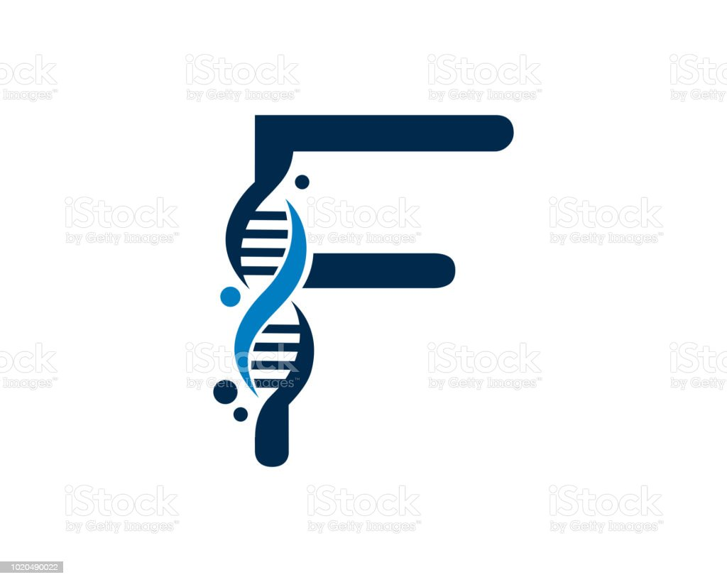 letter f dna design template stock vector art more images of