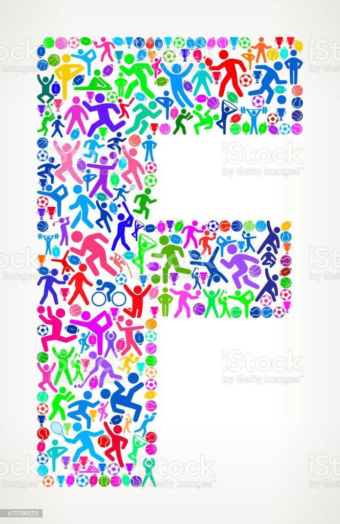 55561a757 Letra F Fitness desporto e exercício padrão vector fundo letra f fitness  desporto e exercício padrão