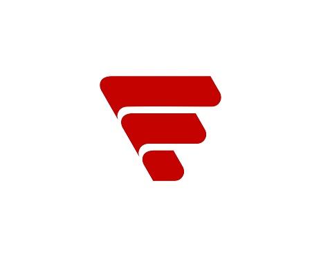 Letter F icon alphabet symbol.