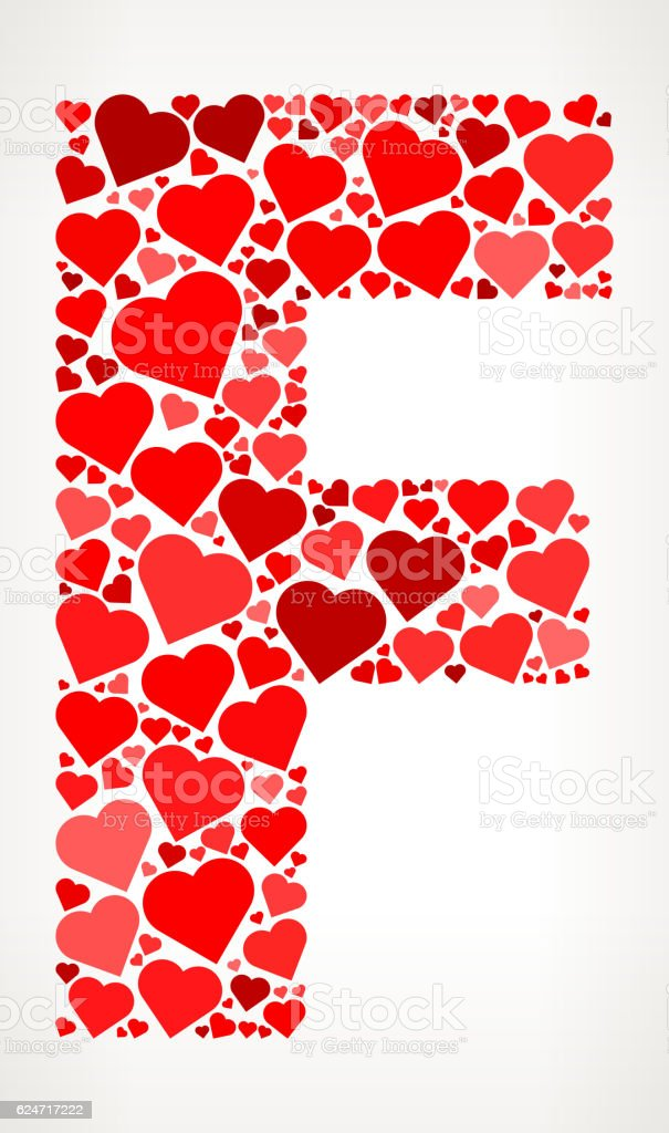 Letter f icon with red hearts love pattern stock vector art more letter f icon with red hearts love pattern royalty free letter f icon with red altavistaventures Image collections
