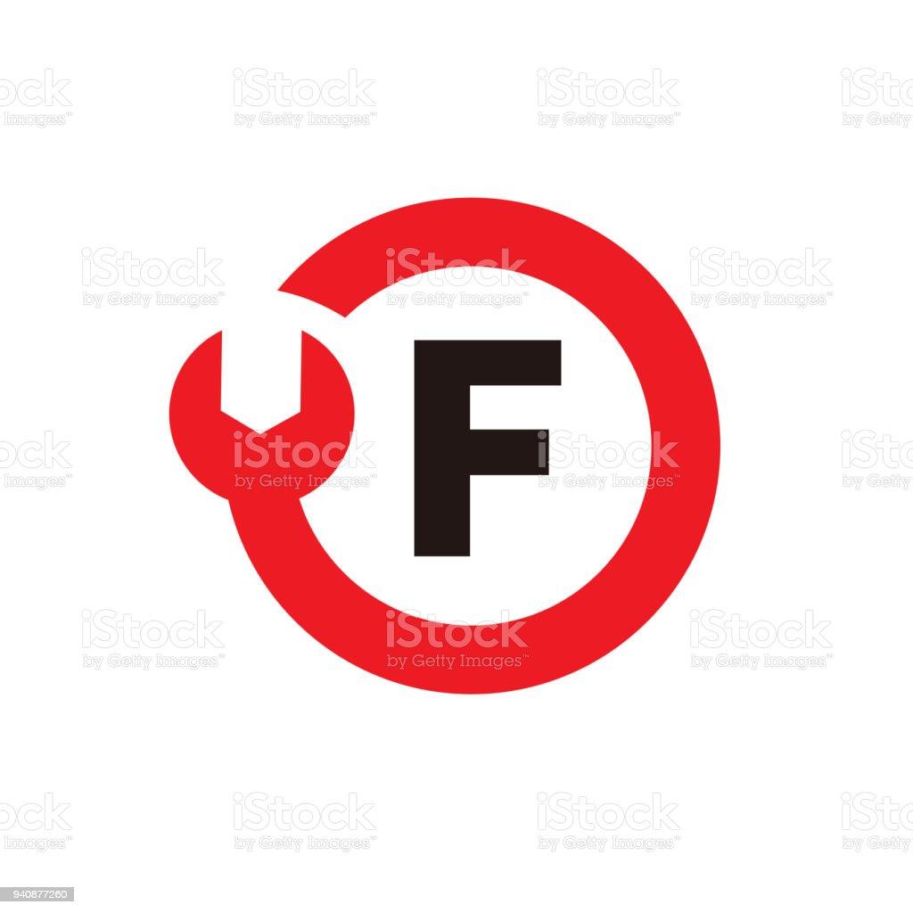 3e3295eec7616 Ilustración de Letra F Logo Plantilla Diseño Vector Emblema Icono ...