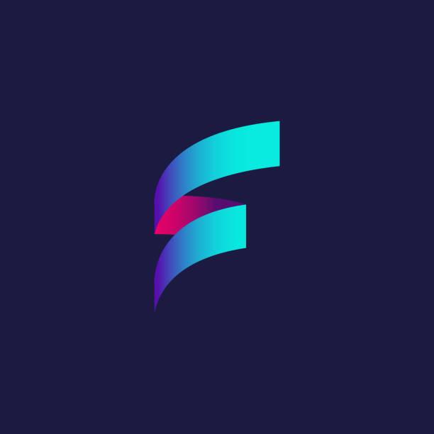 Letter F Logotype Icon Design Template. Technology Abstract Vector Logotype Letter F Logotype Icon Design Template. Technology Abstract Vector Logotype alphabet symbols stock illustrations