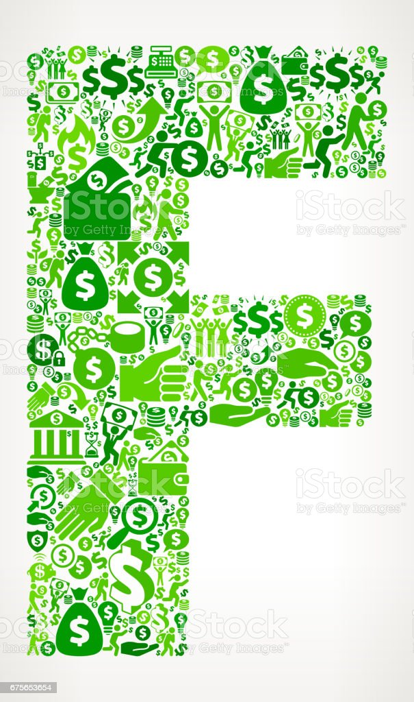 Letter F Money and Finance Green Vector Icon Background royalty-free letter f money and finance green vector icon background stock vector art & more images of abundance