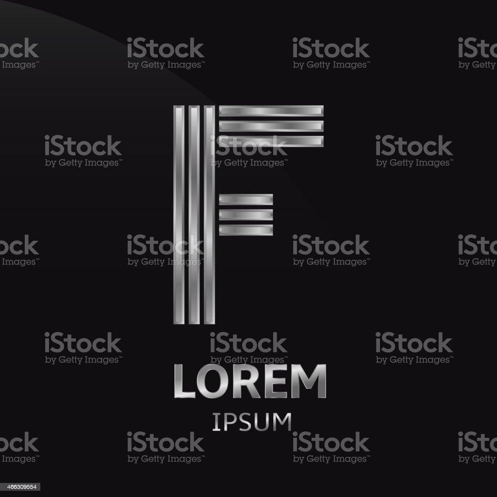 Letter F vector art illustration
