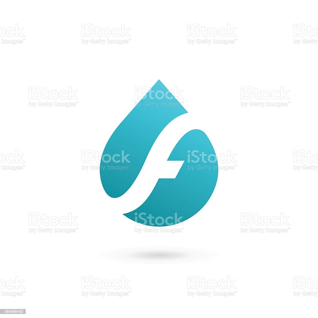Letter f with water drop icon stock vector art more images of letter f with water drop icon royalty free letter f with water drop icon stock biocorpaavc Image collections