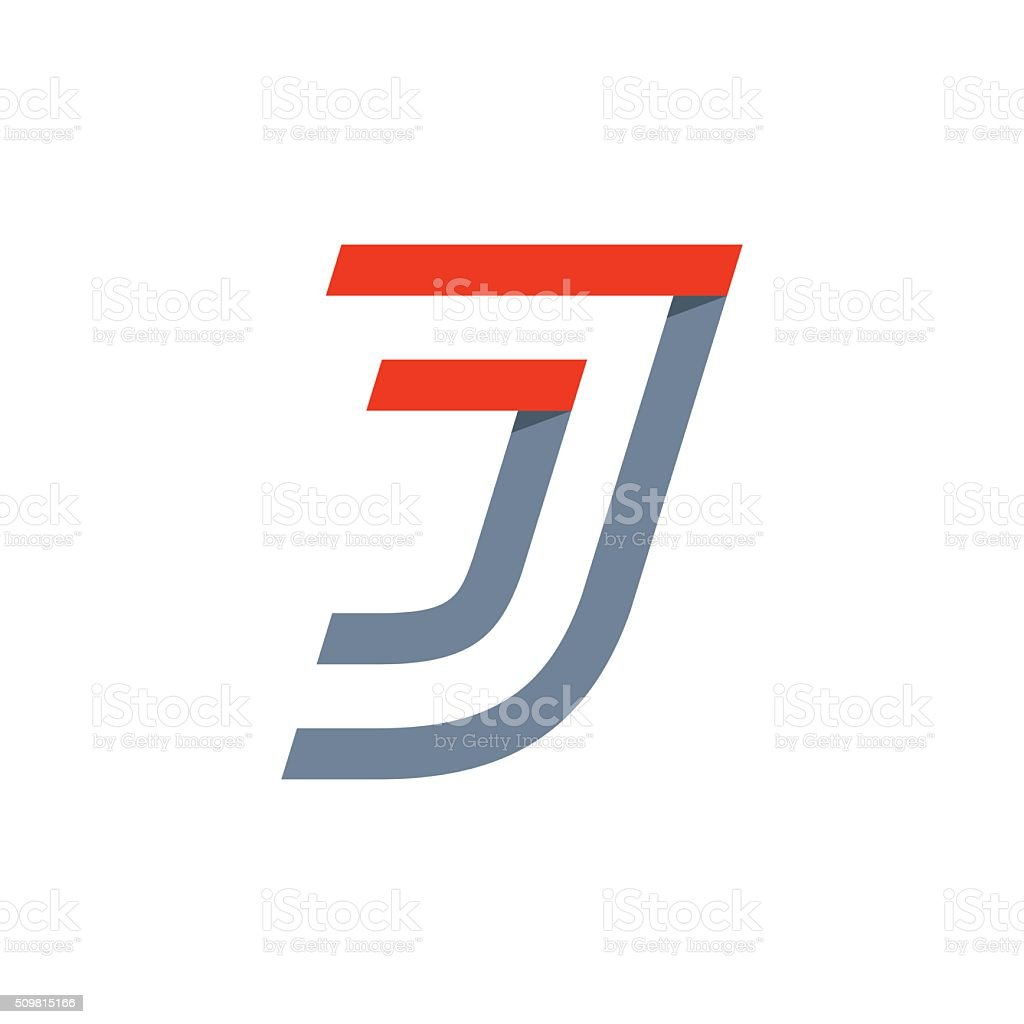 J letter fast speed icon. vector art illustration