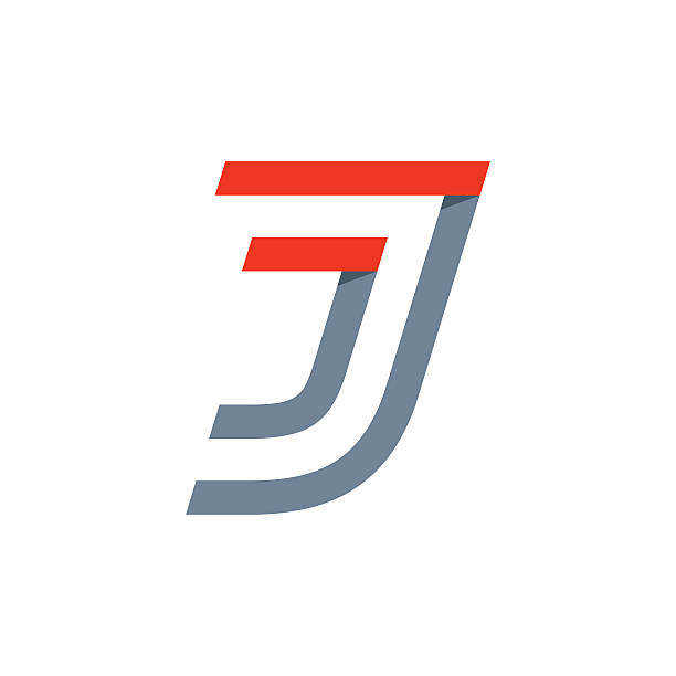 J letter fast speed icon. Vector design template elements for your application or corporate identity. letter j stock illustrations