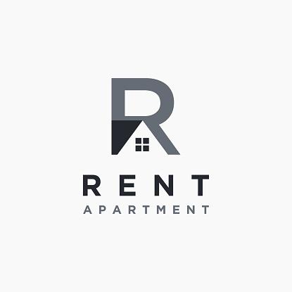 R letter for rent property vector