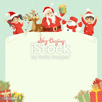 istock Letter for Santa Claus. Christmas design. 1191416867