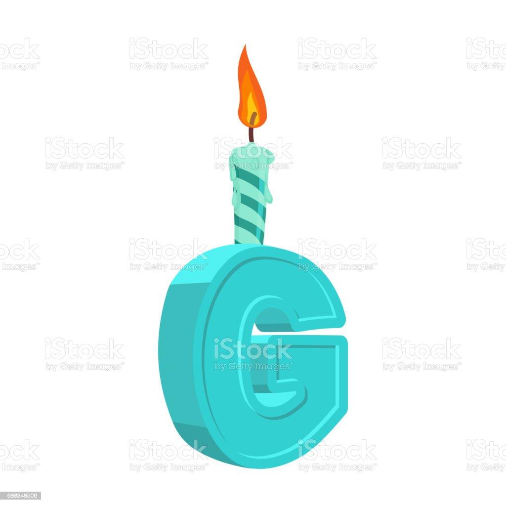 Abc Verjaardag.Letter G Verjaardag Lettertype Brief En Kaars Verjaardag