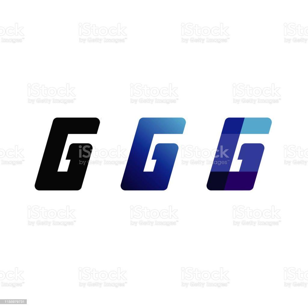 Buchstabe G Blaue Ikone Design Inspiration Stock Vektor Art