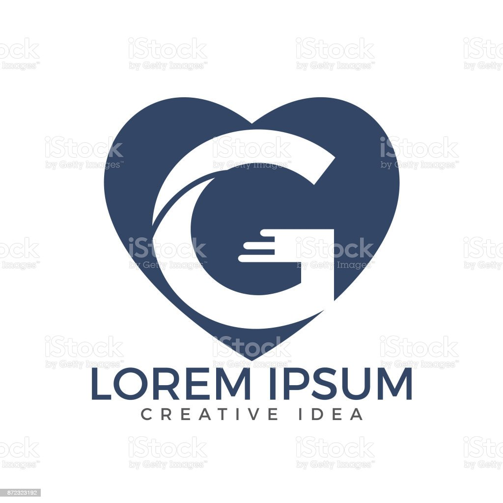 letter g business vector design template heart shaped letter g icon