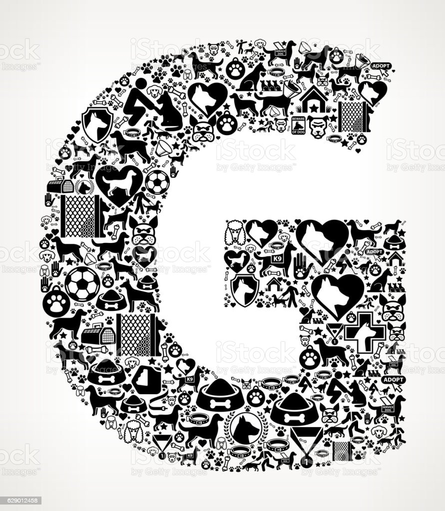 Letter g dog and canine pet black icon pattern stock vector art letter g dog and canine pet black icon pattern royalty free letter g dog and altavistaventures Choice Image