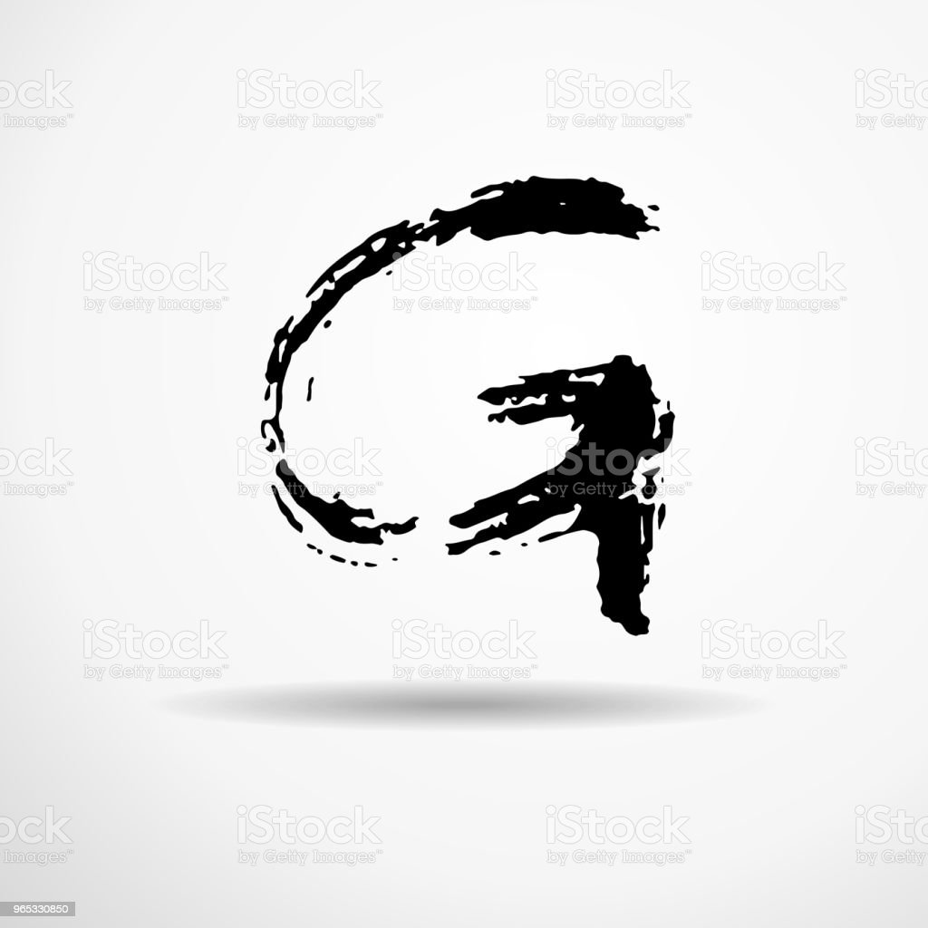 Letter G. Handwritten by dry brush. Rough strokes textured font. Vector illustration. Grunge style alphabet. letter g handwritten by dry brush rough strokes textured font vector illustration grunge style alphabet - stockowe grafiki wektorowe i więcej obrazów alfabet royalty-free