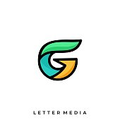 Letter G Illustration Vector Template. Suitable for Creative Industry, Multimedia, entertainment, Educations, Shop, and any related business.