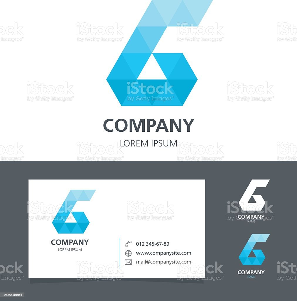 Letter G - Logo Design Element with Business Card - illustration royalty-free letter g logo design element with business card illustration stock vector art & more images of abstract