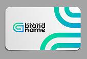 Letter G Logo on business card