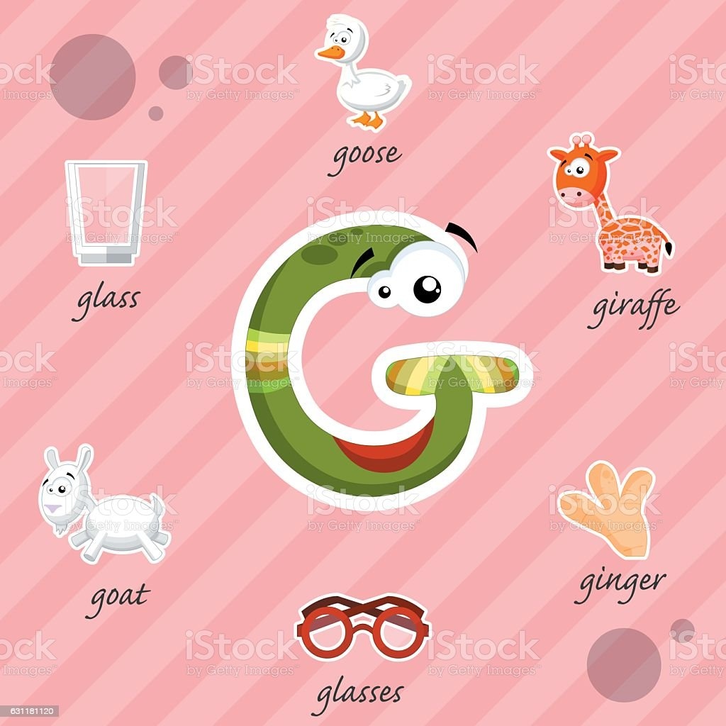 letter g with words – cliparts vectoriels et plus d'images de