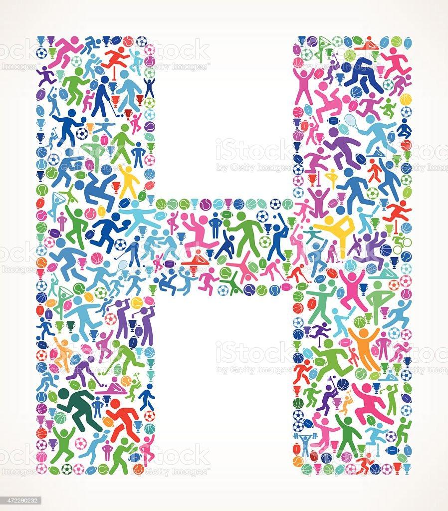 H Letter Design Wallpaper