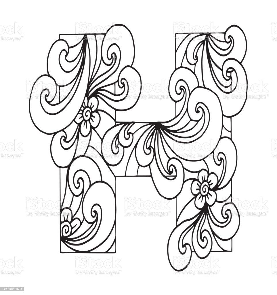 Letter h for coloring vector decorative object illustration computer letter h for coloring vector decorative object illustration computer dress lace altavistaventures Choice Image