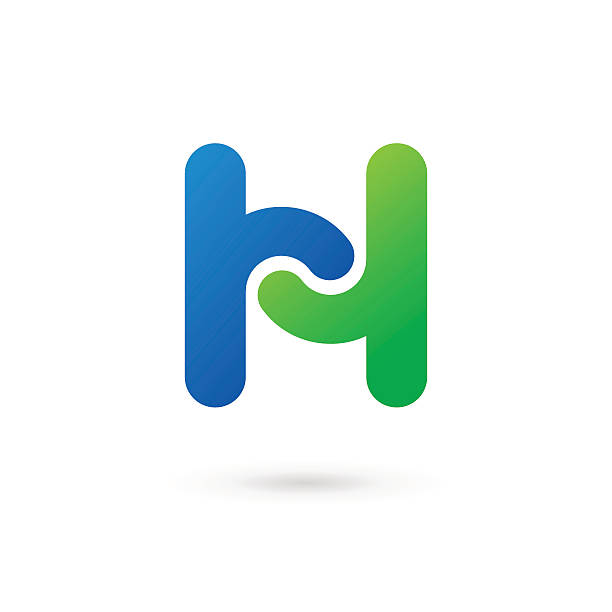 letter h icon - h harfi stock illustrations, clip art, cartoons, & icons