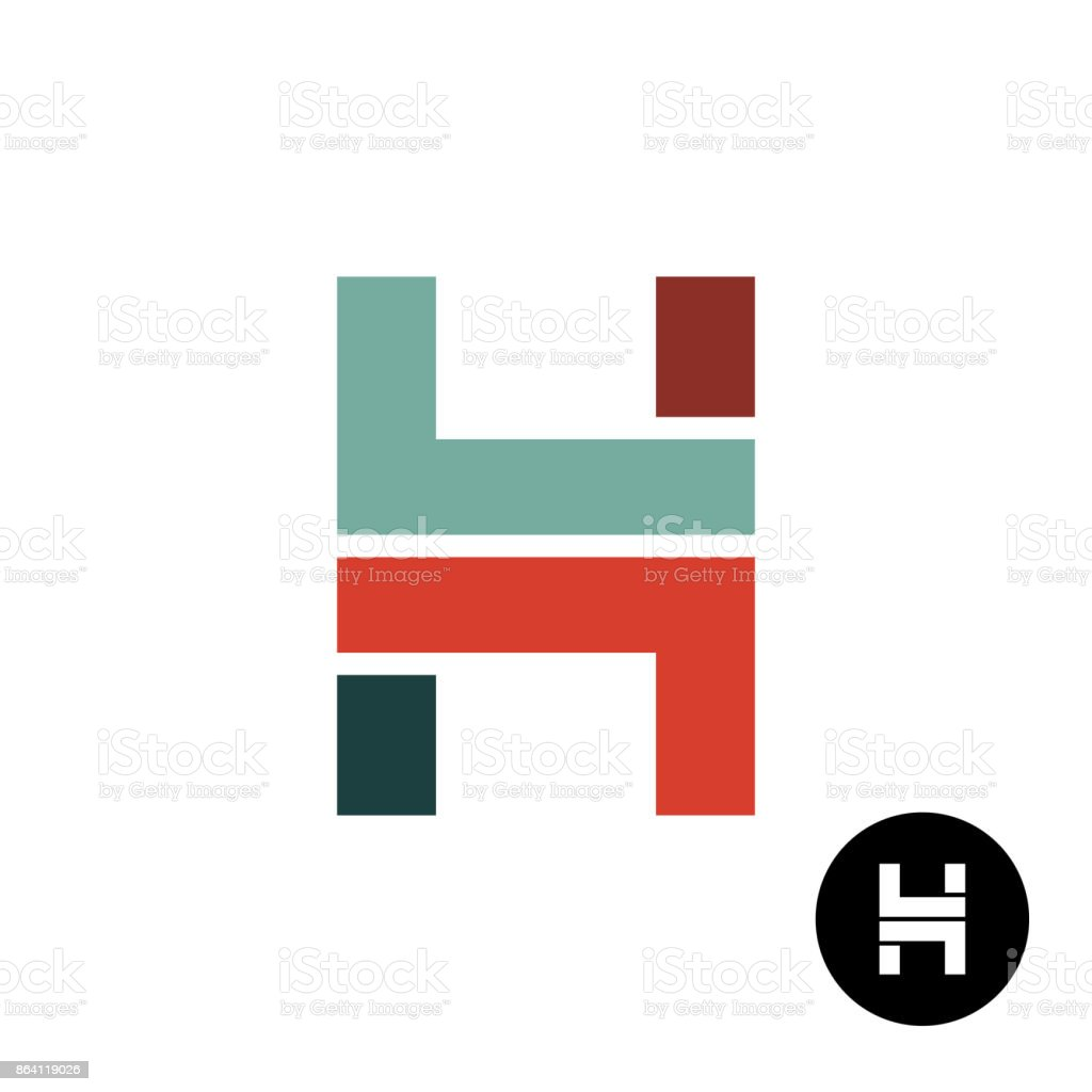 Letter H industrial style symbol design royalty-free letter h industrial style symbol design stock vector art & more images of abstract