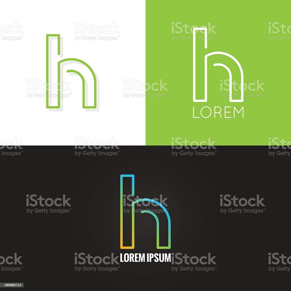 letter H logo alphabet design icon set background vector art illustration