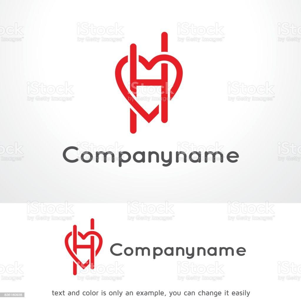 Letter h love symbol template design vector emblem design concept letter h love symbol template design vector emblem design concept creative symbol spiritdancerdesigns Images