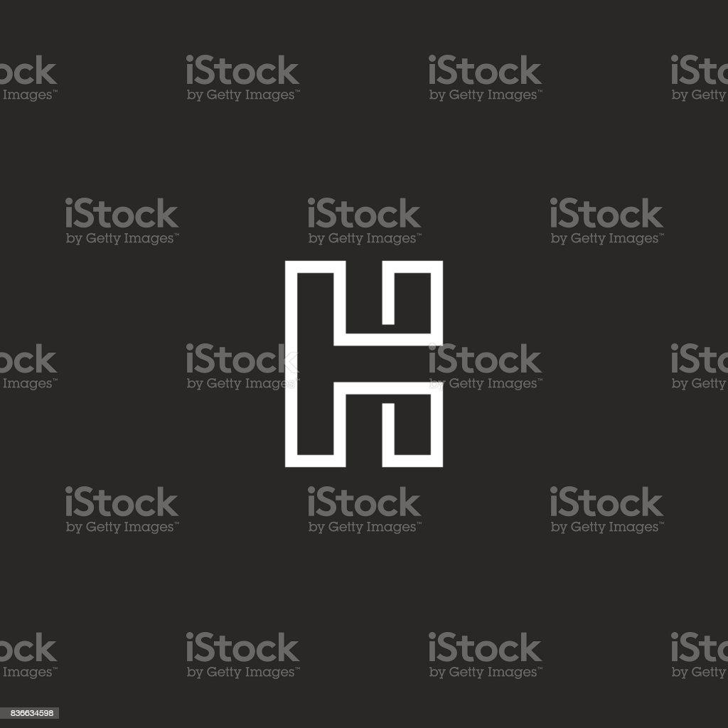 graphic relating to H&r Block Coupon Printable named Perfect Silhouette Of Letter H Template Examples, Royalty