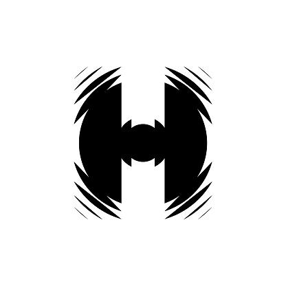 Letter H solid Logo