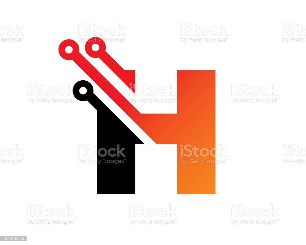 letter h template design vector emblem concept design creative symbol icon royalty