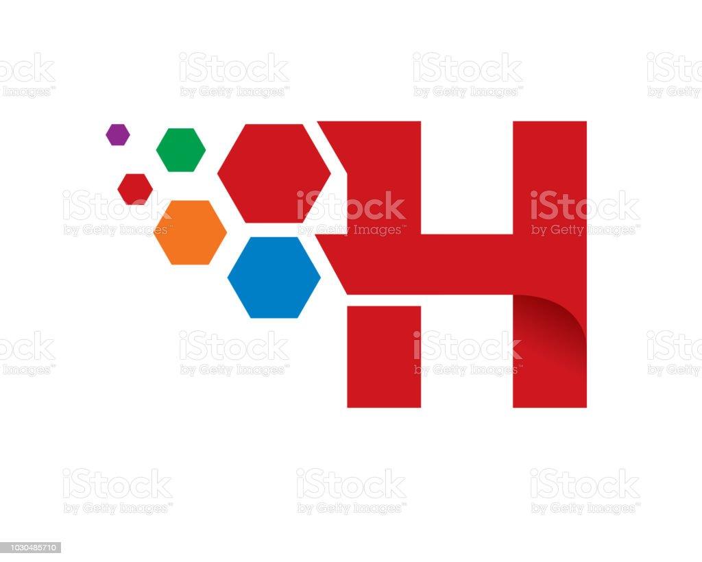 letter h template design vector emblem concept design creative