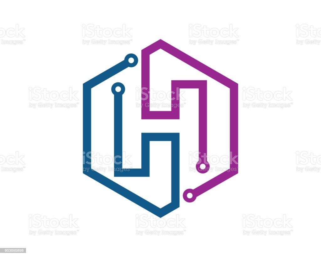 letter h template design vector emblem design concept creative