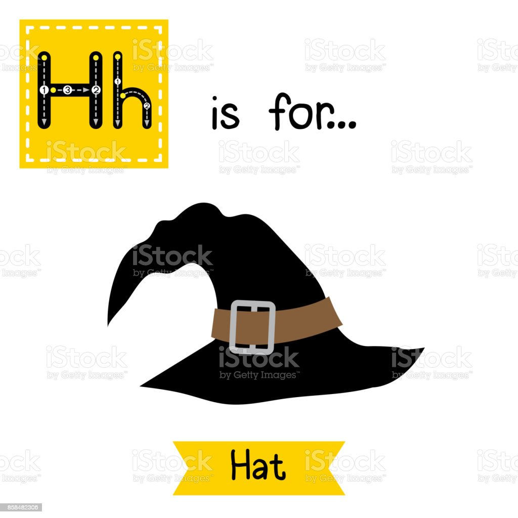 letter h tracing hat royalty free stock vector art