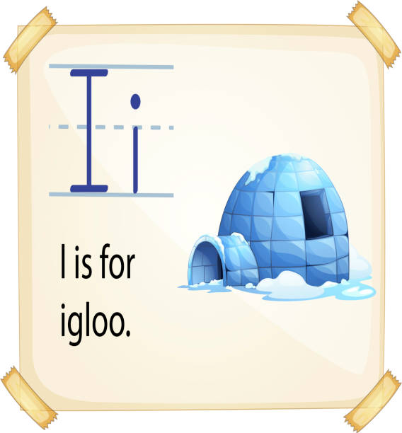 Letter I For Igloo Illustrations, Royalty-Free Vector