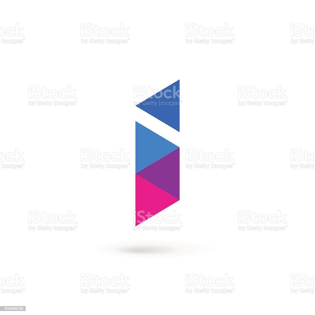 Letter I icon vector art illustration