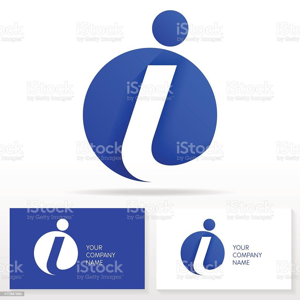 Letter I logo icon design template elements - Illustration. vector art illustration