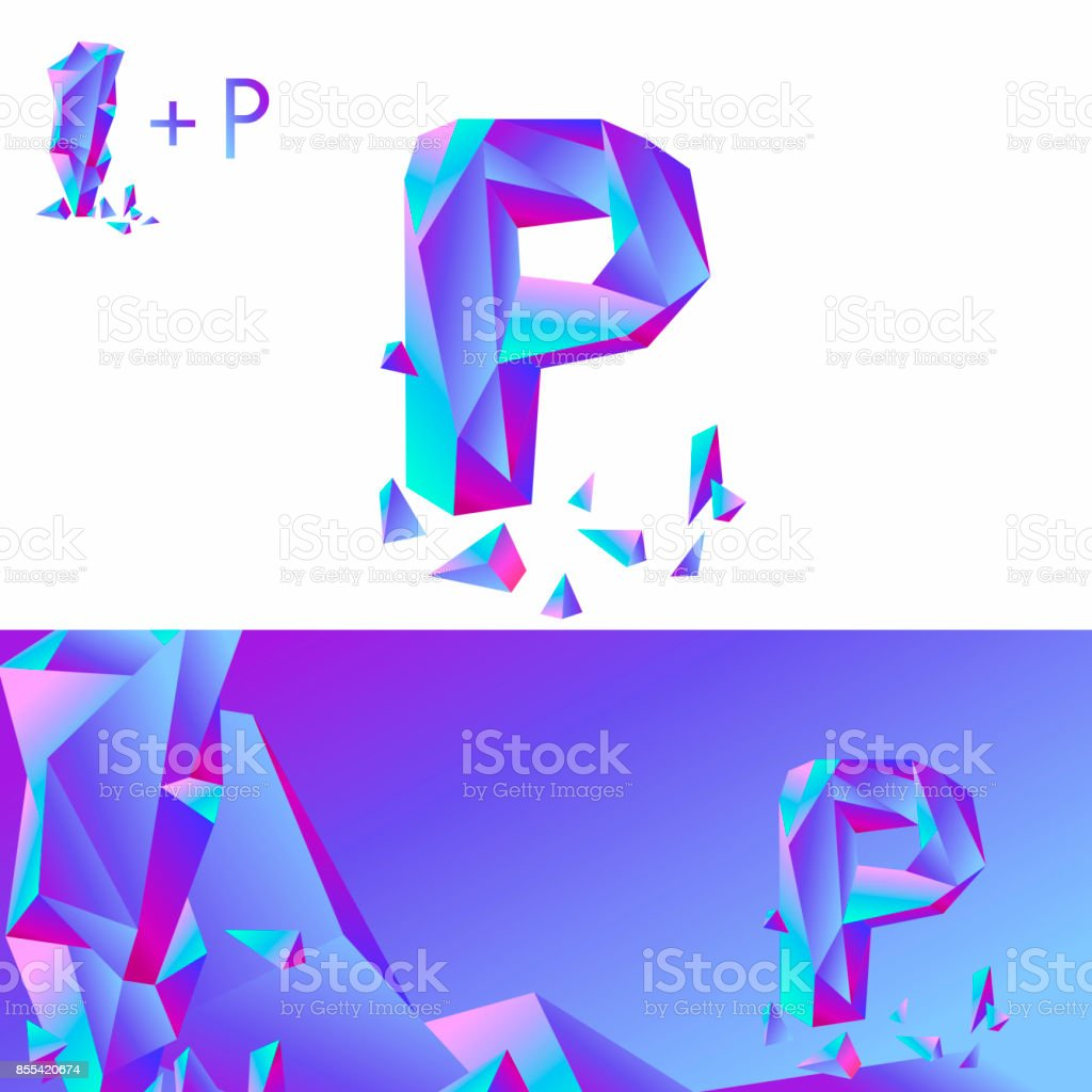 p letter ice a creative sign for corporate identity of the company