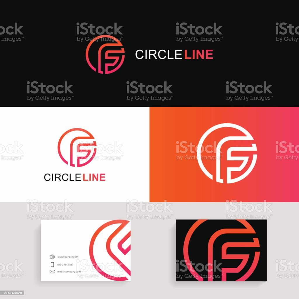 F letter icon circle sign company icon with brand business card f letter icon circle sign company icon with brand business card f letter icon circle reheart Gallery