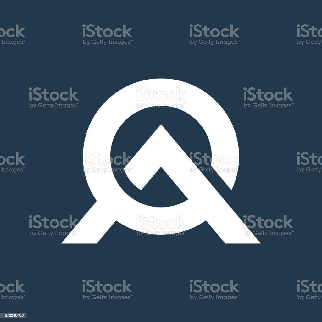 AO mektup simgesi tasarım yaratıcı Modern şık tipografi. vektör sanat illüstrasyonu