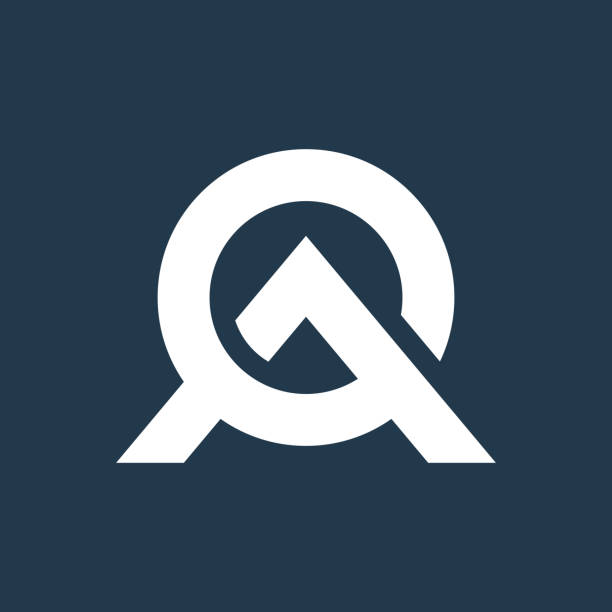 ao letter icon design creative modern trendy typography. - alphabet symbols stock illustrations
