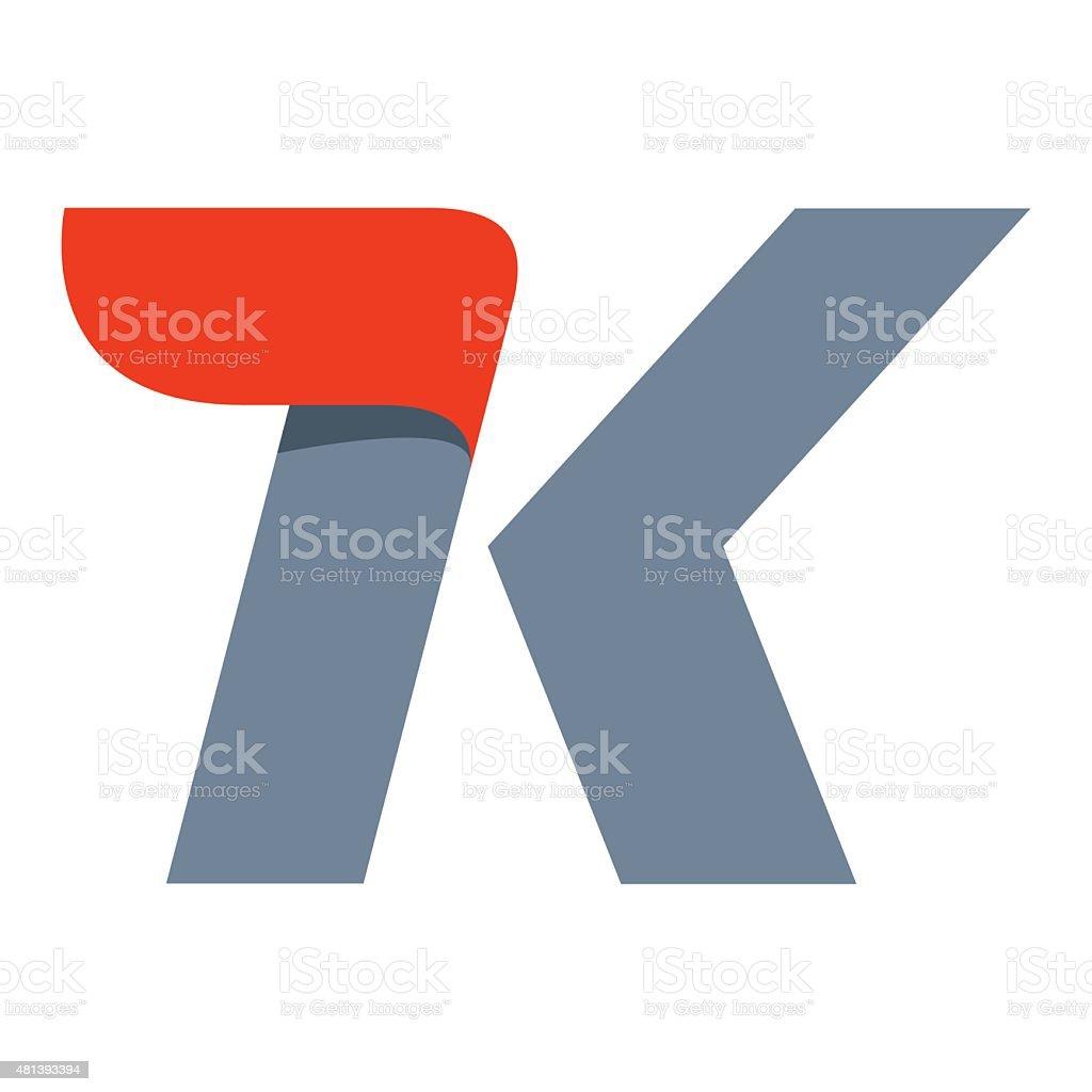 K letter icon design template vector art illustration