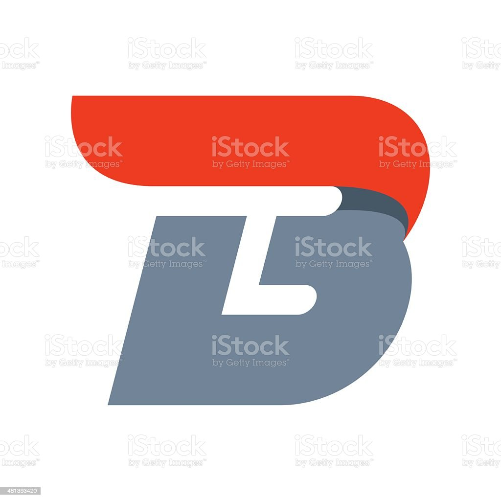 B letter icon design template vector art illustration
