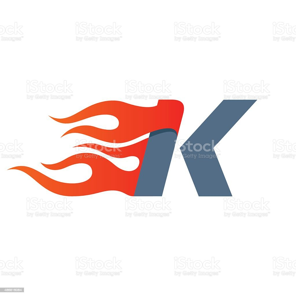 k letter icon design template royalty free k letter icon design template stock vector
