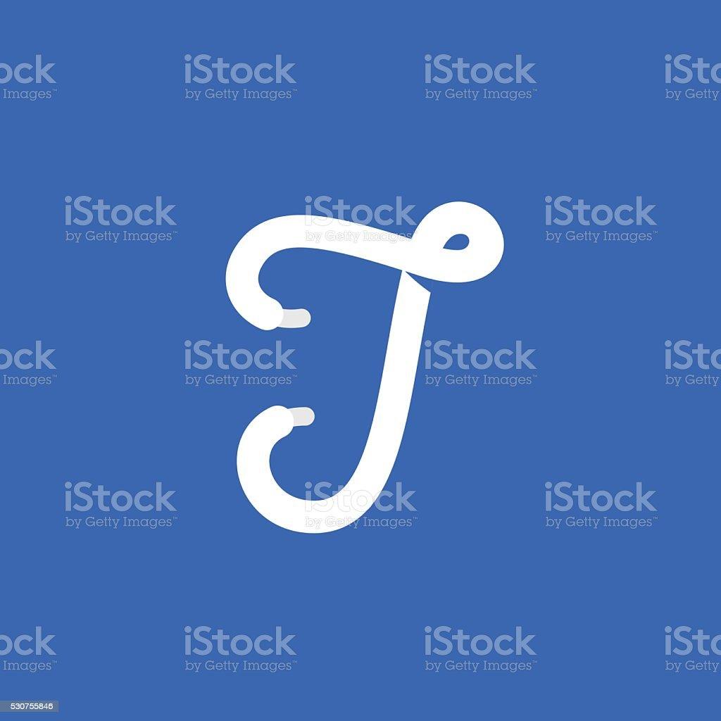 9d7d127c9 Eu ícone de letra formada por cadarço. vetor de eu ícone de letra formada  por