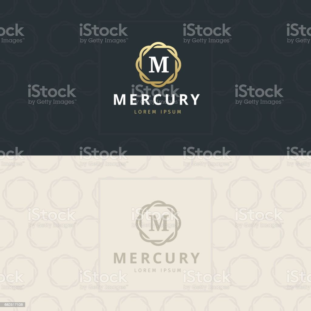 M Letter icon, Icon with pattern. vector element royalty-free m letter icon icon with pattern vector element stock vector art & more images of abstract