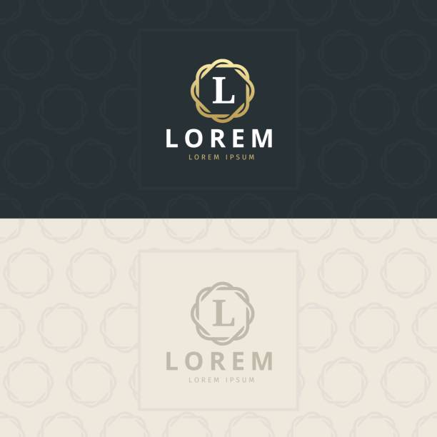 L Letter icon, Icon with pattern. vector element Premium letter icon template. Design concept. Vector illustration letter l stock illustrations